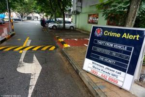 Singapour, dénonciation crime