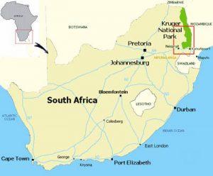 Carte parc Kruger