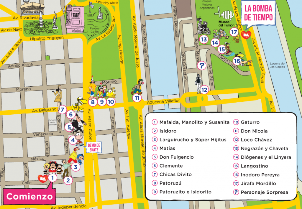 Argentine, Buenos Aires, Paseo de la historieta