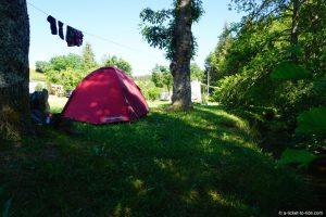 France, GR70, camping Le Bleymard
