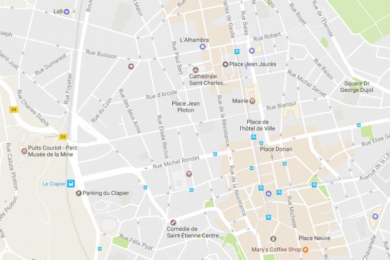 Saint-Etienne, centre-ville